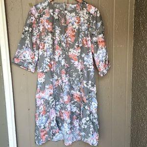 J.Jill linen ruffled-hemline dress